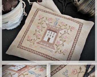 Stitcher's House / Primitive Cross stitch pattern /PDF
