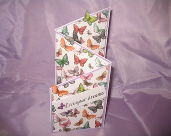 Butterfly Live your dreams card