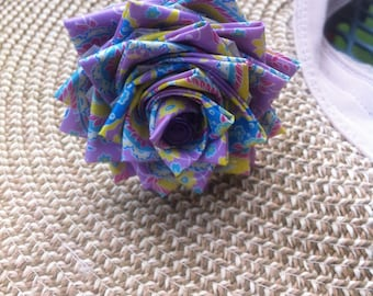 Purple Paisley Duct Tape Flower Pen