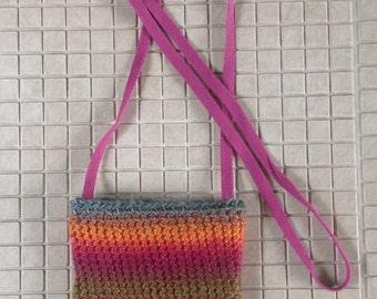 Crochet shoulder bag - phone purse