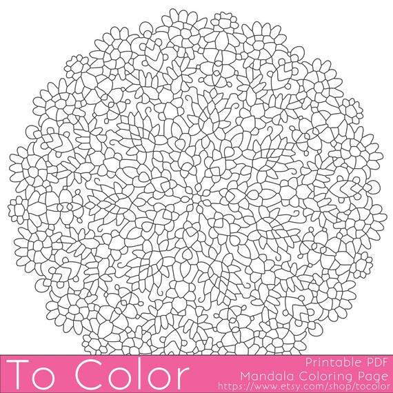 Articoli simili a stampabili da colorare per adulti for Stampabili da colorare