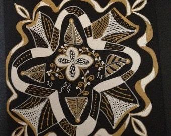 Gold & Silver Tile
