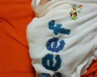 Personalised appliqued towels for babies, children, adults, sports