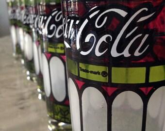 70's Coca Cola Tumblers, Set of Six