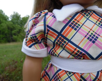 """Kit's """"Mad for Plaid"""" School Dress, American Girl 1930s, American Girl Kit, American Girl Dress"""