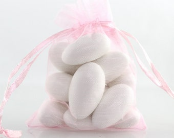 4 x 6 Pink Organza Bag // 4 x 6 in // Organza Bags // BBBsupplies {CR-O-K002}