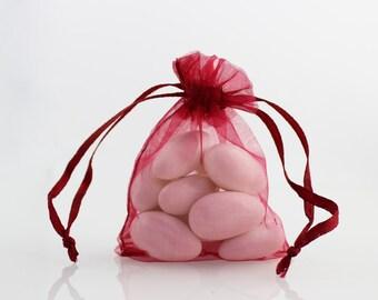 4 x 6 Wine Organza Bag // 4 x 6 in // Organza Bags // BBBsupplies {CR-O-E002}