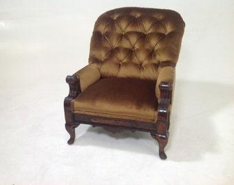 Antique victorian slipper lounge chair