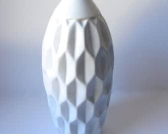 White Ceramic Textured Bottle
