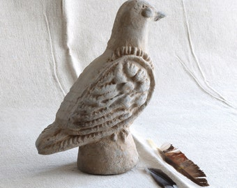 french garden pigeon, antique garden accessory, collectable and rare find