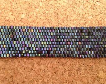 Peyote Stitch Blue Bracelet