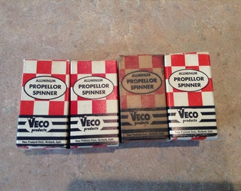 4 vintage vego model airplane propellor spinners free shipping 1fs