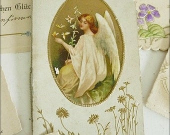 Set of 10 antique (1910/20) greeting cards... CHARMANT!