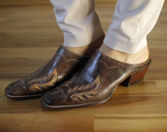 Charlie Horse Open back sandals Brown sandals Slip on shoes