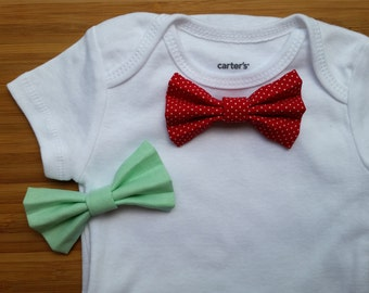 Baby Bundle: Bow Tie Onesie + Two Snapable Bow Ties