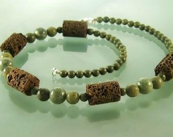 Lava necklace, lava stone necklace, lava jewelry,  lava stone, lava rock, stone jewelry, gemstone jewelry, serpentinite jewelry, styledonna