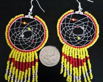 Native American Dreamcatcher Dangle Earrings