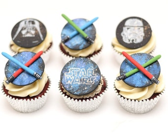Fondant Star Wars Cupcake Toppers - Set of 6