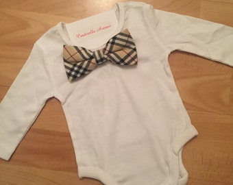 Designer inspired Bow Tie onesies