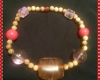 Beaded bracelet - stretchy