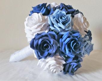 Paper Rose Bouquet / Paper Rose / Wedding Bouquet / Blue Rose Bouquet / Bouquet / Blue Wedding / Blue Motiff Wedding
