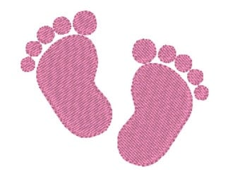 Embroidery baby feet