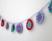 Bright crochet garland