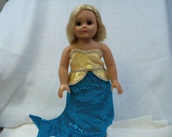 "Mermaid costume for 18"" dolls"