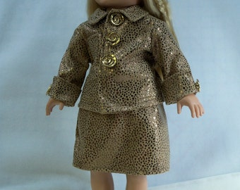 Gold Metallic Leopard Print Suit