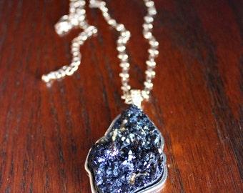 Black Quartz Crystal Necklace