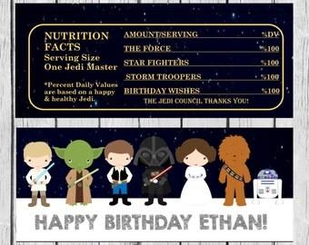 Star Wars Candy Wrappers, Candy Wrappers, Star Wars Birthday. Star Wars Party