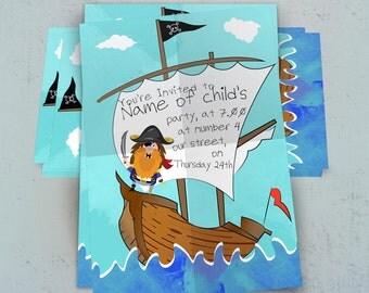 Pirate Invitation / Pirate Party Invite / Pirate Invitation / Pirate Birthday / Printable Pirate