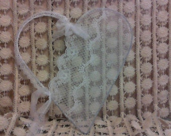 Shabby Chic Lacey Heart