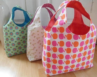 Sewing patterns bags - reversible bags