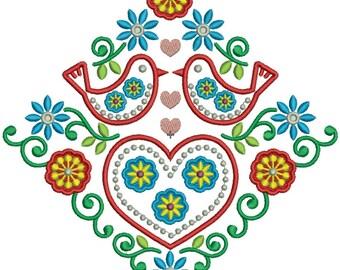 Floral Embroidery Design (VAR008)