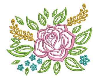 Floral Embroidery Design (FL021)