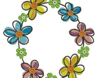 Floral Embroidery Design (FL031)