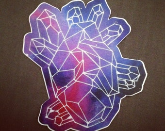Geometric Heart Vinyl Sticker