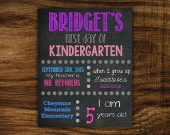 Bridget - Printable First Day of School Chalkboard Sign