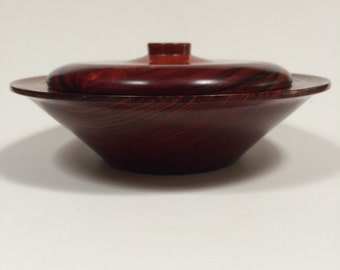 Cocobolo lidded bowl