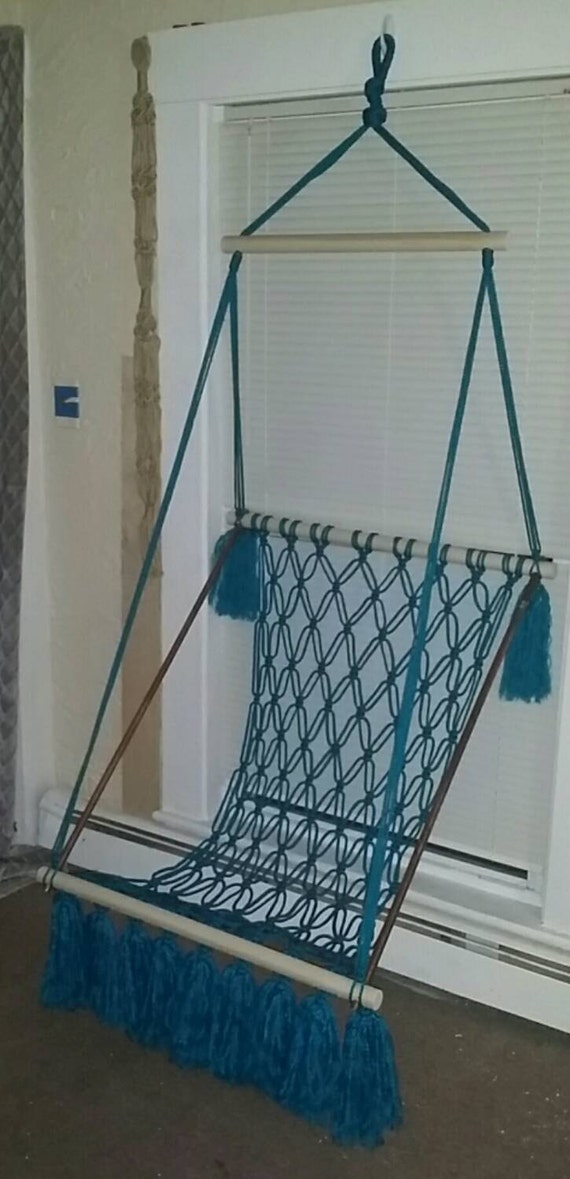 items similar to macrame hanging hammock chair on etsy