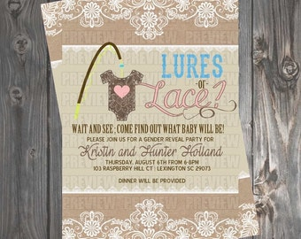 Lures or Lace Invitation