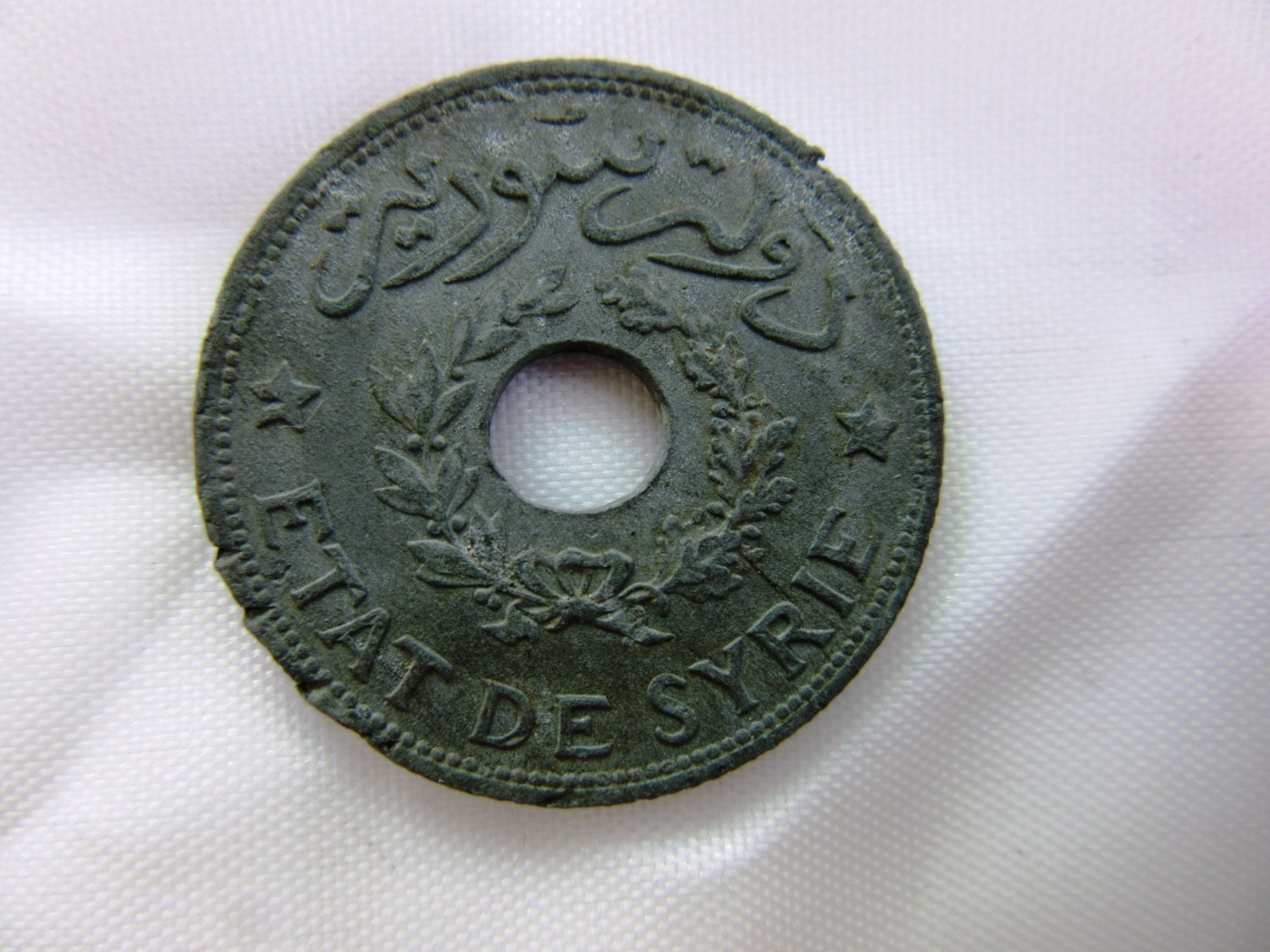 Old Syrian 1 Piaster Coin 1940 Circulated Syria Middle East