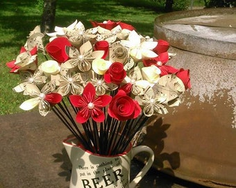 Bespoke Musical Notes Paper Flower table centrepiece