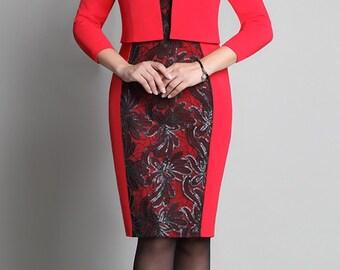 718 Set 2 subject: dress, jacket - bolero. Elegant dress,  festive dress, evening dress