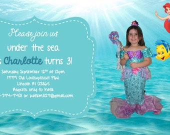 Under the sea/ Mermaid Invitation!