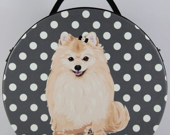 Pomeranian Small Round Bag