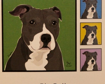 Pit Bull Laminated Picture