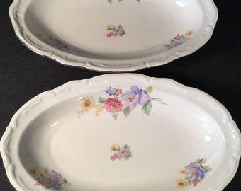 Set of 2 Vintage Bavaria Bareuther German Platters