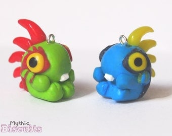 World of Warcraft Inspired Baby Murloc Phone Charm or Key Ring